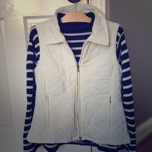 Nautical striped navy knit sweater